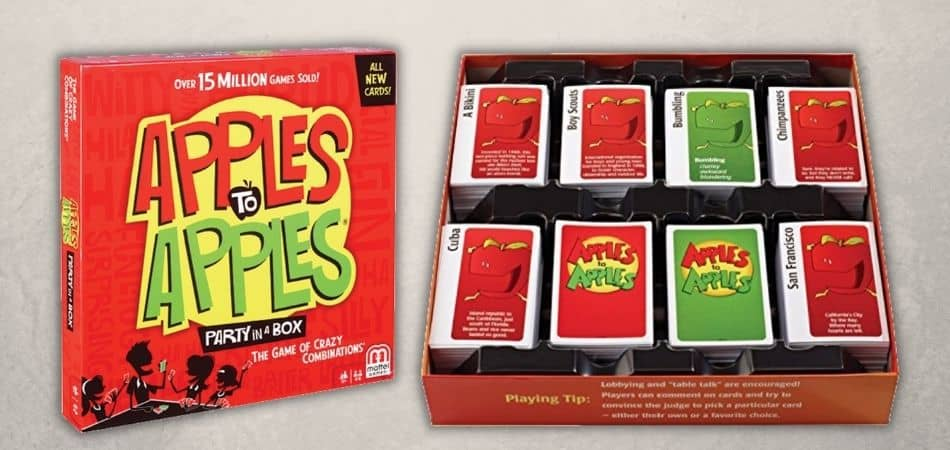 Apples to Apples Board Game Box and Cards