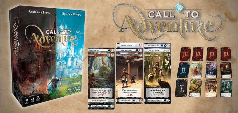 Call to Adventure Board Game Box and Cards