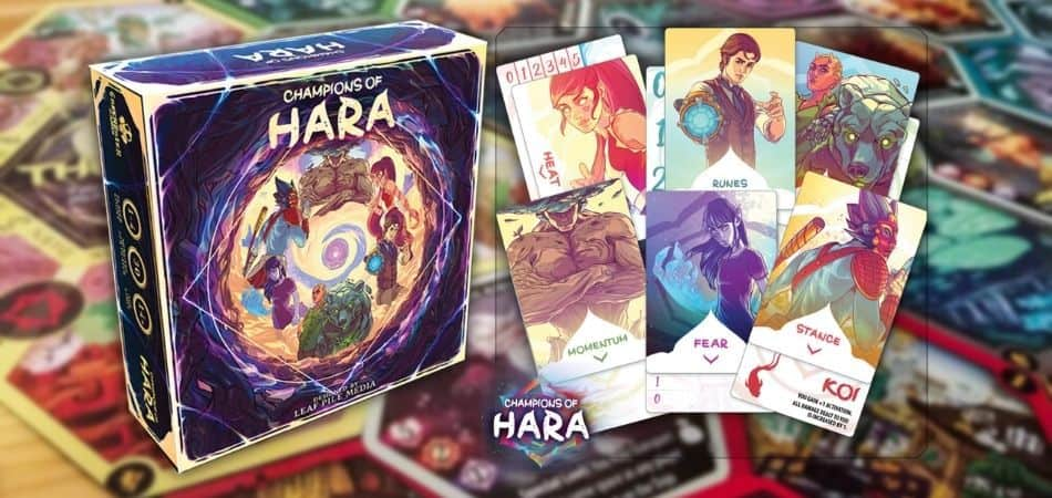 Champions of Hara Board Game Box and Cards