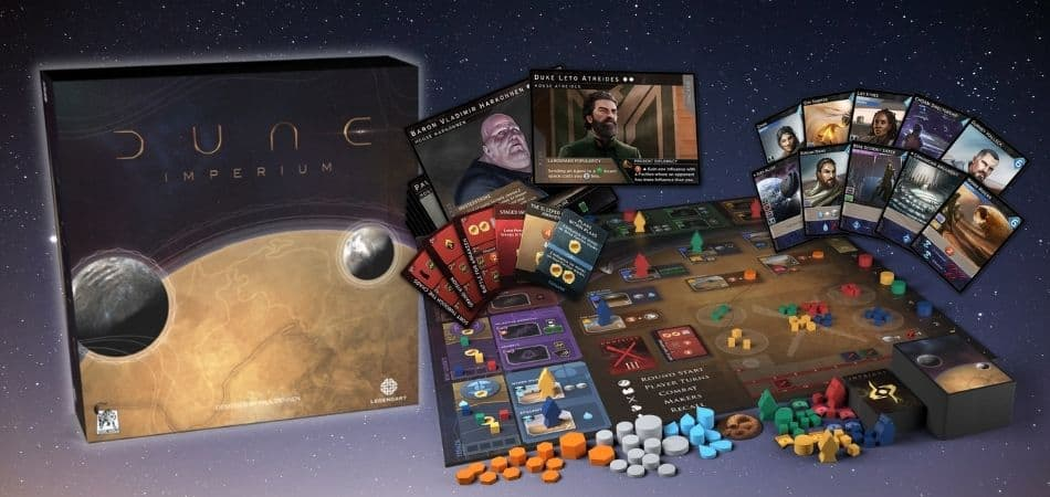 Dune: Imperium board game box and components