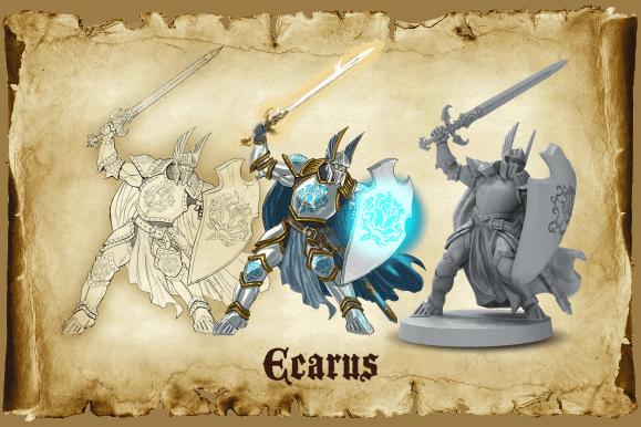Ecarus miniature from Sword & Sorcery