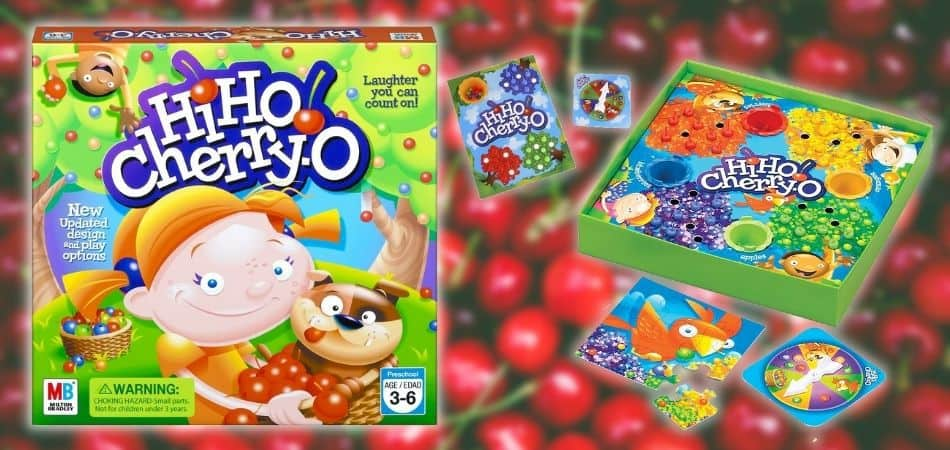 Hi Ho Cherry-O Kids Board Game Box and Components