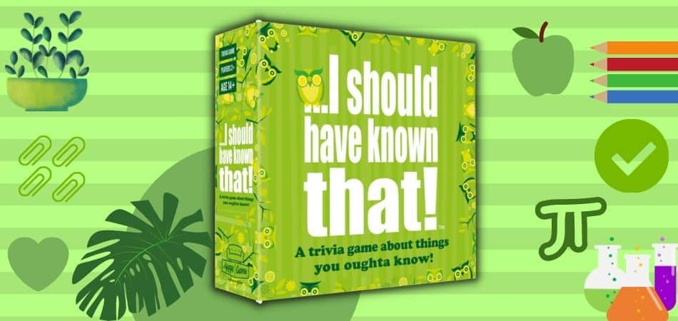 I Should've Known That Trivia Board Game Box