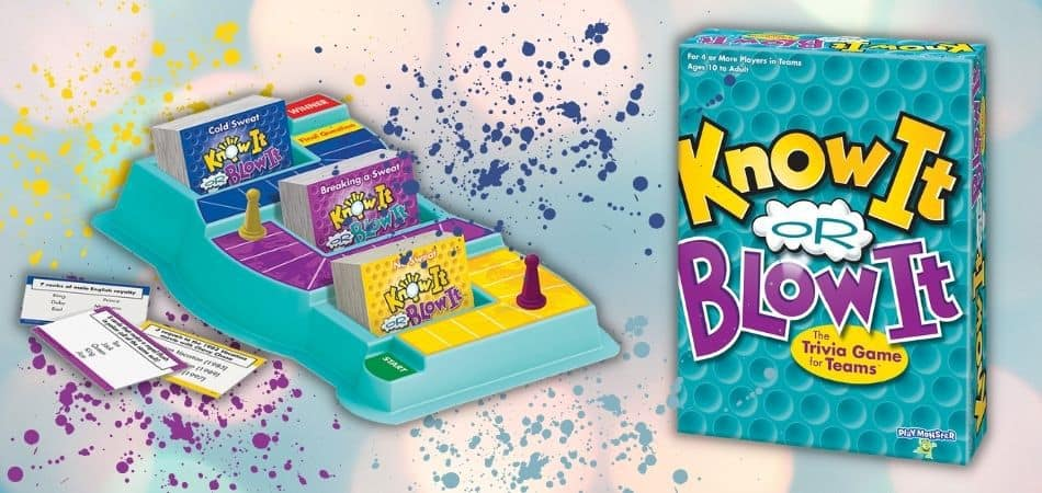 Know it Or Blow it Trivia Game Box and Components