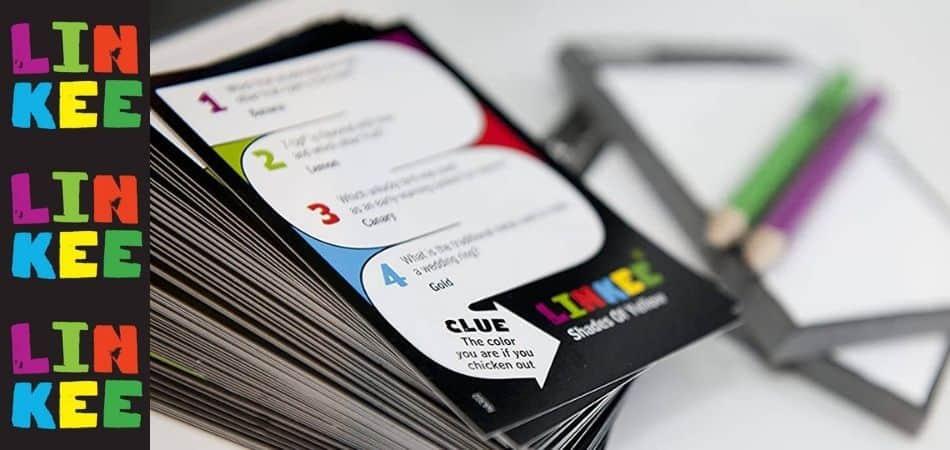 Linkee Trivia Board Game Cards