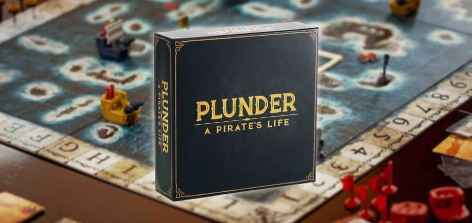 Plunder: A Pirate's Life Board Game Box and Board Setup
