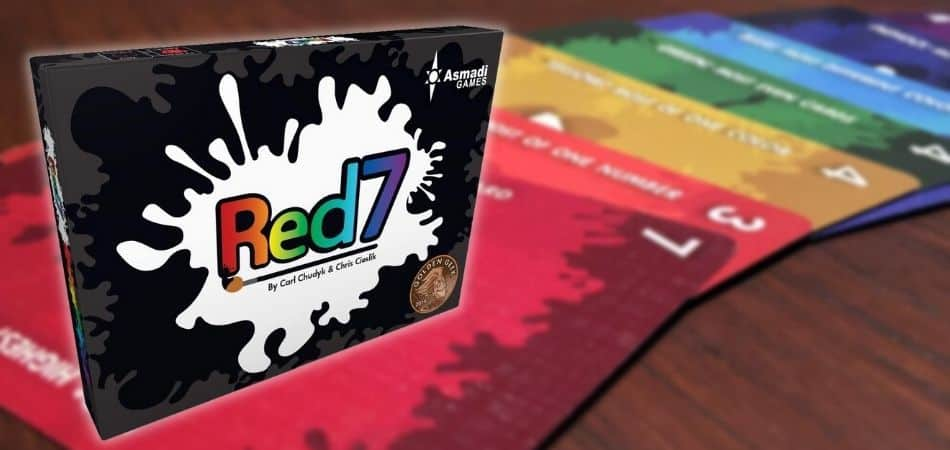 Red7 Board Game Box and Cards