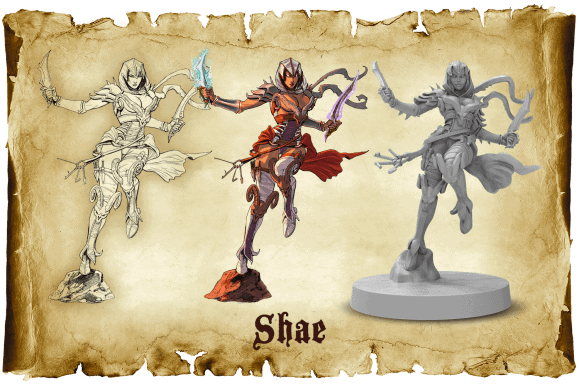Shae miniature from Sword & Sorcery board game