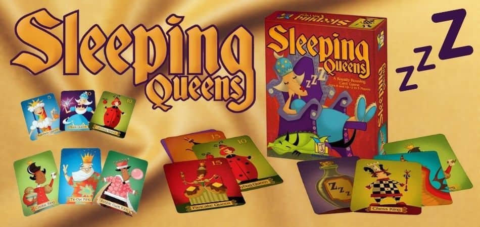 Sleeping Queens Kids Board Game Box and Cards