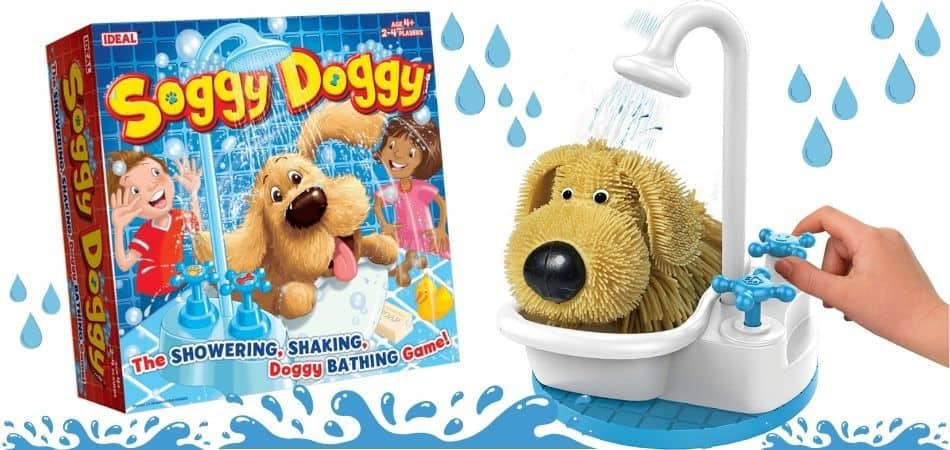 Soggy Doggy Kids board game Box and Parts