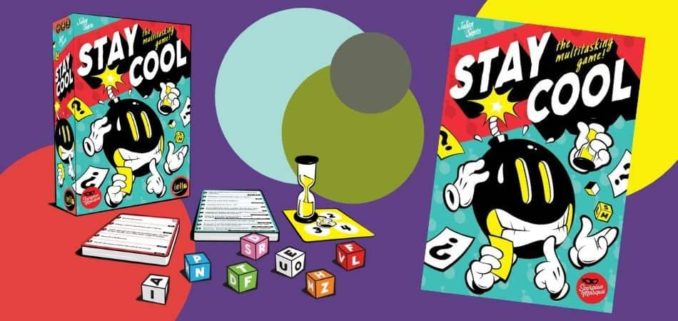 Stay Cool Trivia Board Game Box and Components