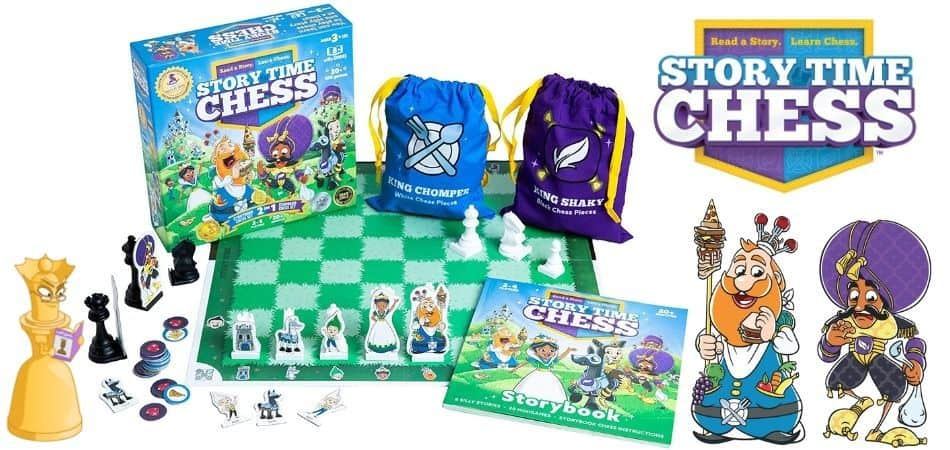 Story Time Chess Kids Board Game Box and Components