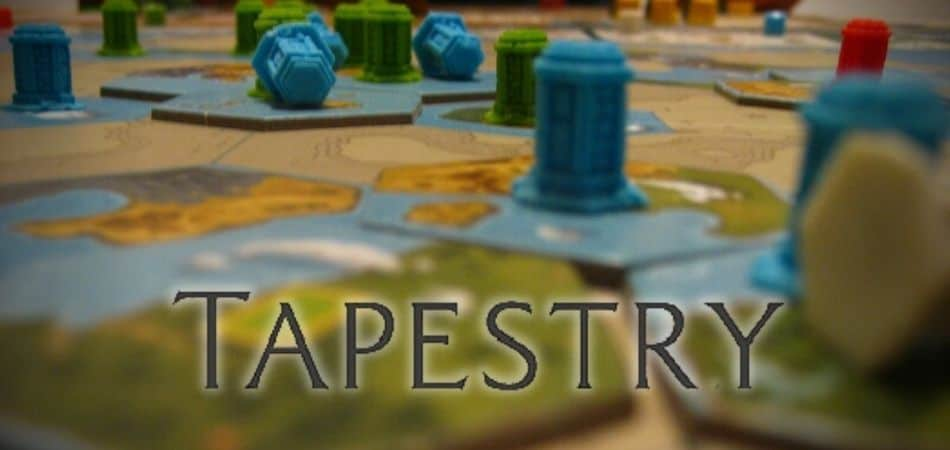 Tapestry Board Game View and Logo