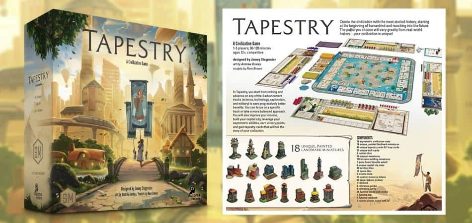 Tapestry Board Game Box Front and Back