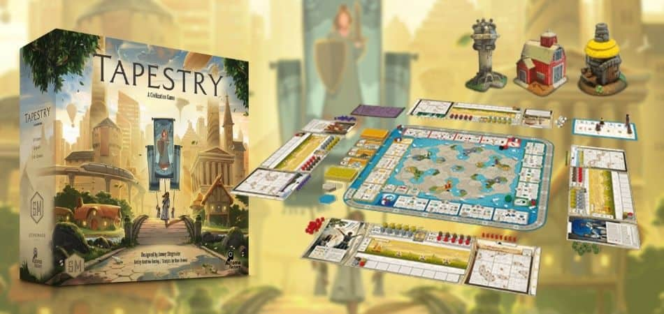 Tapestry Board Game Box and Board Setup