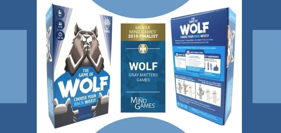The Game of Wolf Trivia Board Game Box Front and Back