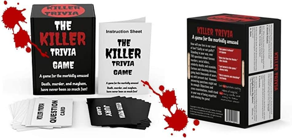 The Killer Trivia Game Box and Cards