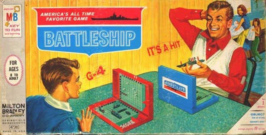 Milton Bradley Battleship vintage box art