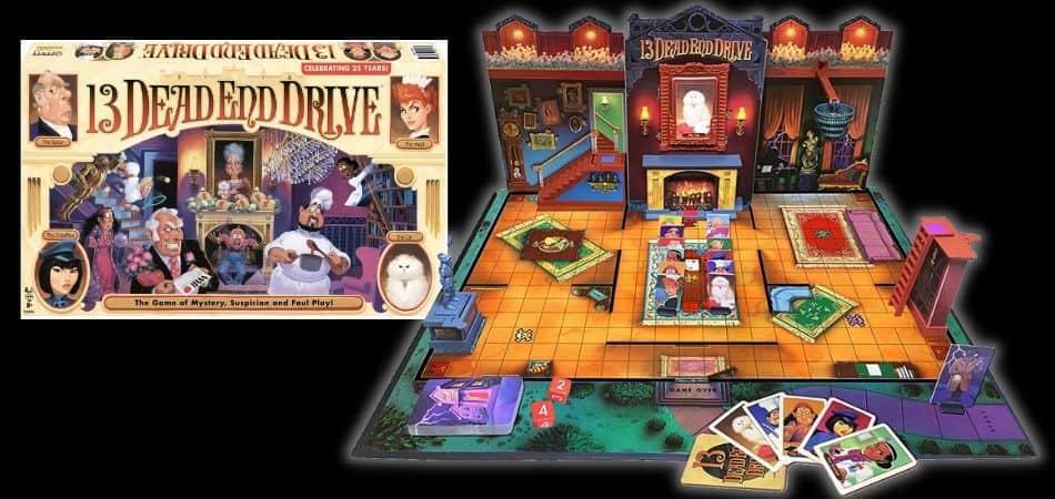 13 Dead End Drive Board Game Box and Board Setup