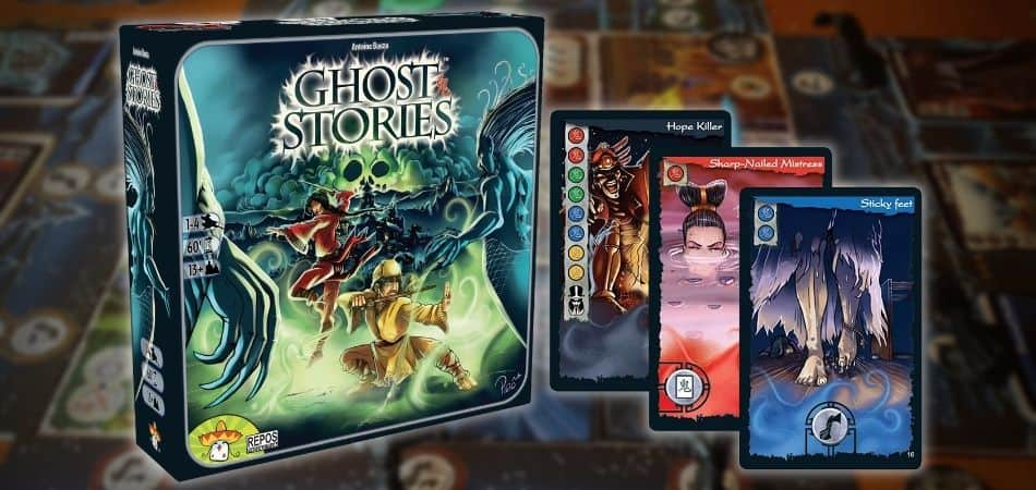 Ghost Stories Board Game Box and Cards
