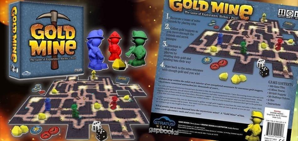 Gold Mine Board Game Box and Board
