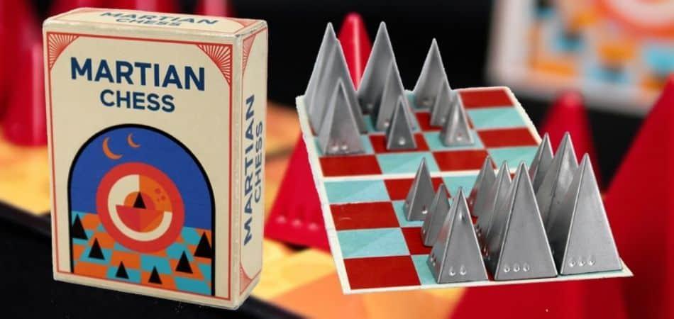 Martian Chess Board Game Box and Board