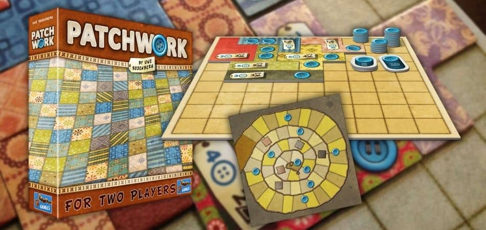 Patchwork Board Game Box and Components