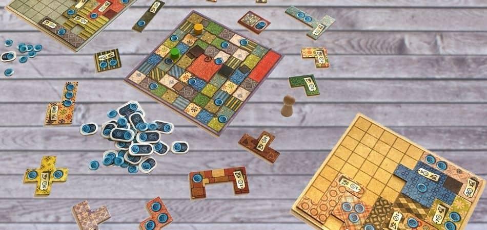 Patchwork Board Game Board Setup