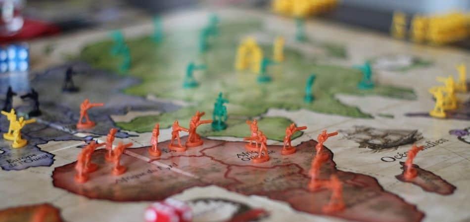 Risk Board Game Board and Troop Setup