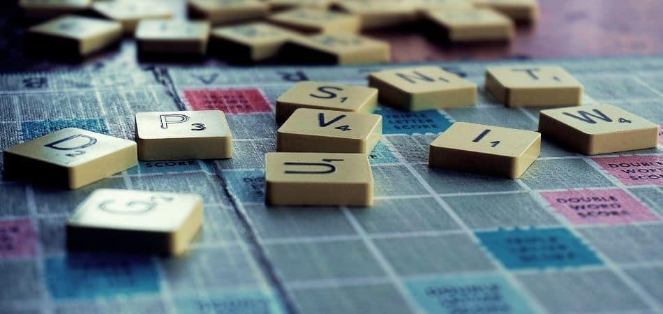 Scrabble tiles close-up