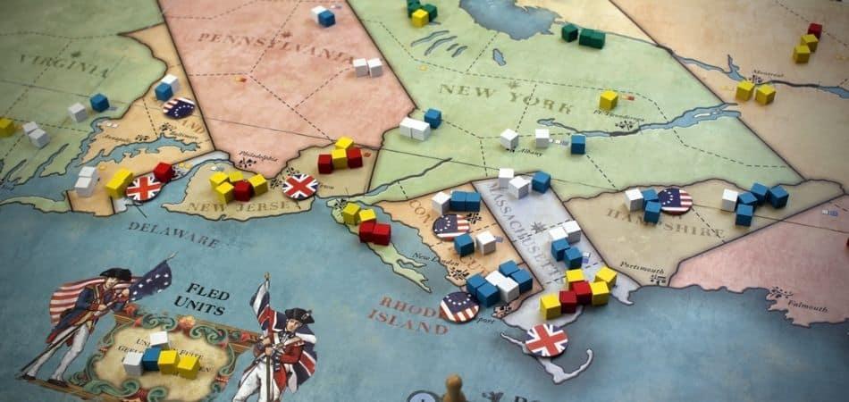 1775 Rebellion Board Game Board Setup