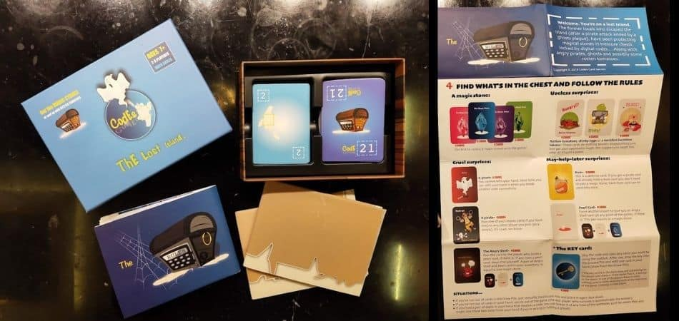 Codes: The Lost Island Card Game Box and Components