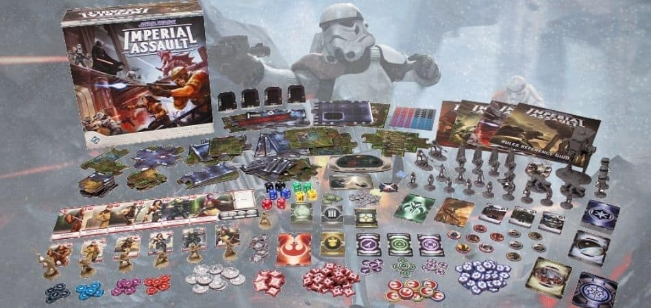Star Wars: Imperial Assault Board Game Box and Components