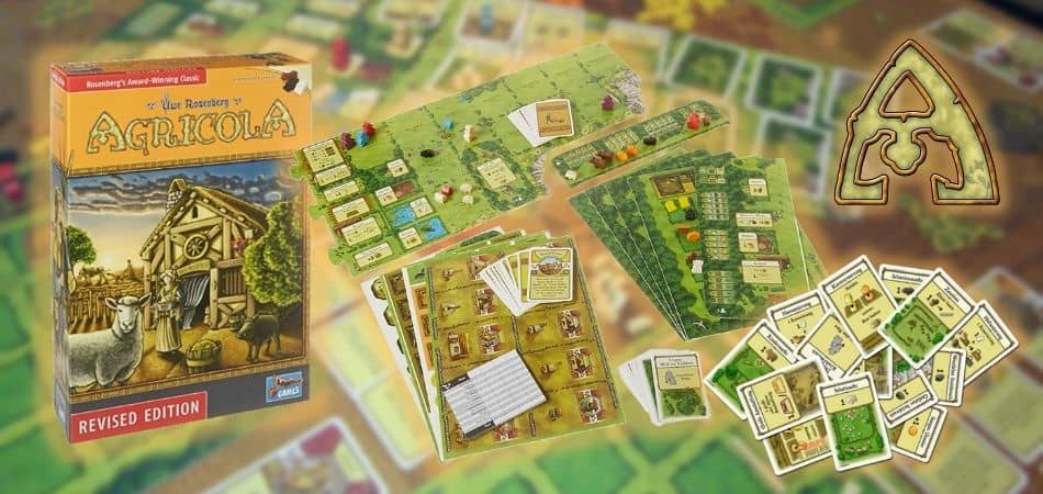 Agricola Revised Edition Board Game Box and Components