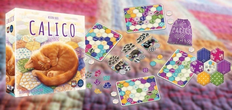 Calico Board Game Box and Components
