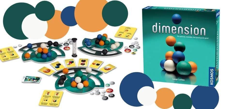 Dimension Board Game Box and Components