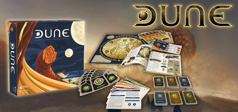 Dune Board Game Box and Components