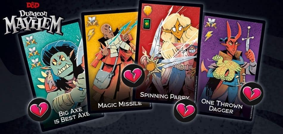 Dungeon Mayhem Board Game Character Cards