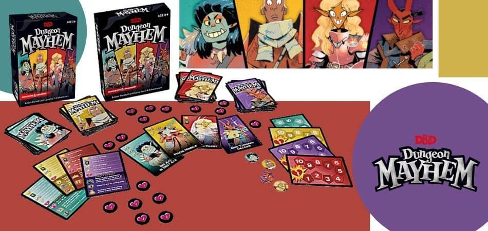 Dungeon Mayhem Board Game Box and Components