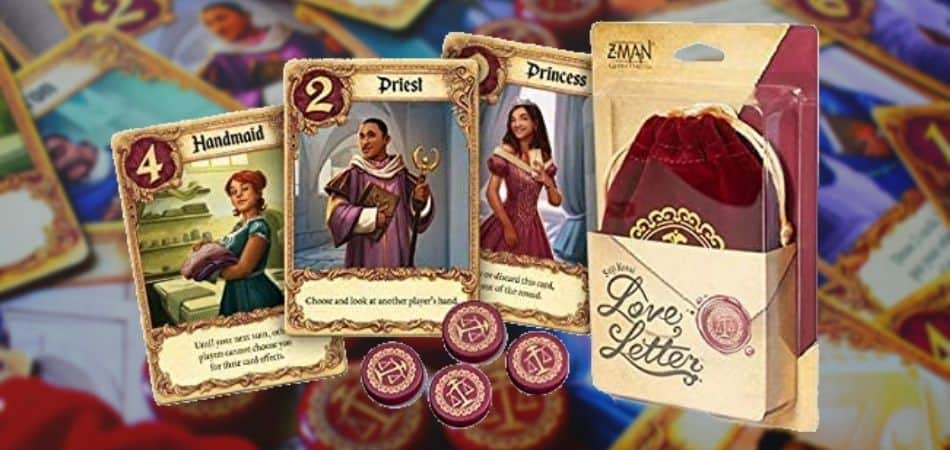 Love Letter card game box and cards
