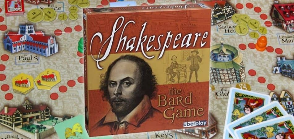 Shakespeare: The Bard Game Board and Box