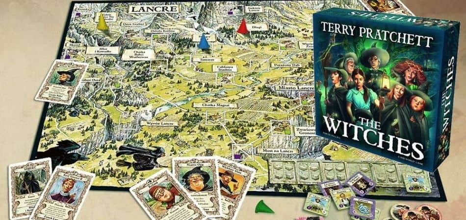 The Witches Board Game Box and Board